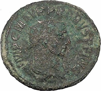 Probus  receiving wreath from woman 278AD Authentic Ancient  Roman Coin i47038
