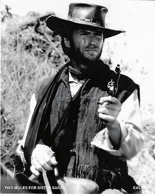 "Clint Eastwood   B&W 8""x10"" Photo "" Two Mules for Sister Sarah "" EAST-X13"