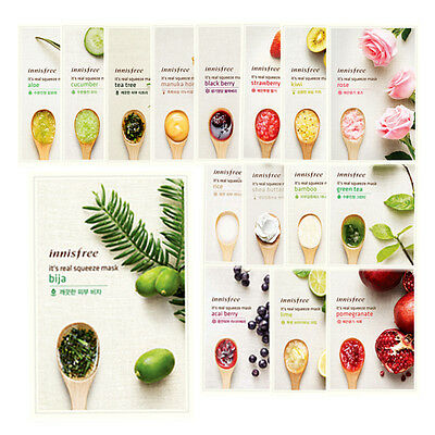 [Innisfree] IT'S REAL SQUEEZE MASK 16 Types * 3 sheets
