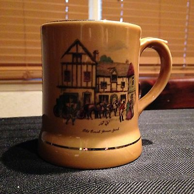 Vintage WADE made in Ireland coffee cup mug with Old Coach House York Scene