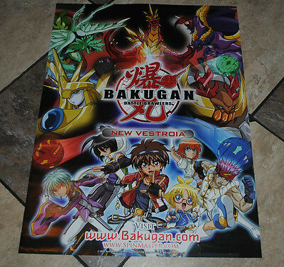 "Bakugan Battle Brawlers Poster Anime Card Game New Vestroia 24"" 2 foot"