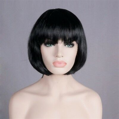 Women's Fashion 60CM Long Black Straight Fancy Dress Costume Cosplay Party Wig