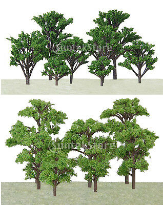 40pcs Mixed Scale Model Tree Train Railway Architecture Wargame Scenery HO N Z