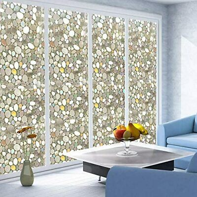 Premium 3D Reflective Decorative Static Etched Glass Vinyl Window Privacy Film