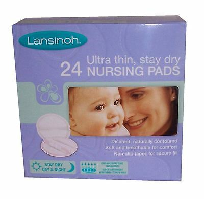Lansinoh Disposable Nursing Pads x 24 Ultra Thin Stay Dry