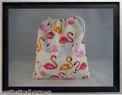 Gymnastics Leotard Grip Bags / Flaming Flamingos Gymnasts Birthday Goody Bag