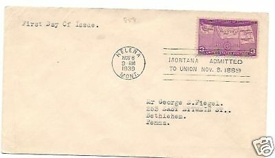 50th. ANNIV. OF 4 STATES #858 HELENA,  MT 11/8/1939