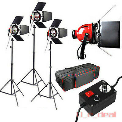 3x800W Redhead Red Head Halogen Tageslicht Videoleuchte Video Fotostudio Set