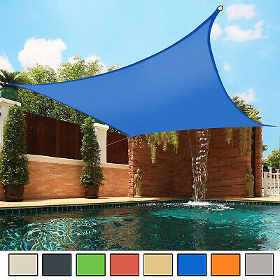 Sun Shade Sail Garden Patio Awning Canopy 98% UV Block Square NEW