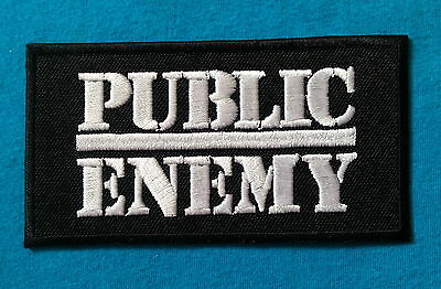 PUBLIC ENEMY AMERICAN HIP HOP BAND Embroidered Easy Iron On Patch FREE SHIP