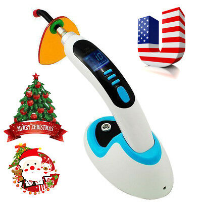 Black 10W Wireless Cordless LED Dental Curing Light Lamp 2000MW +Teeth Whitening