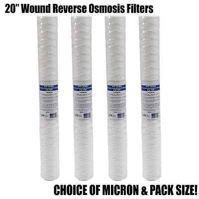 "20"" Wound Particle Filter - Choice of 1, 5, 10, 25 Micron - Pack of 20 or 50"