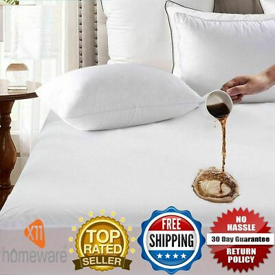Extra Deep Waterproof Terry Towel Mattress Protector Topper Cover All Size