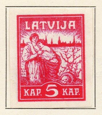 Latvia 1919 Early Issue Fine Mint Hinged 5k. 120912