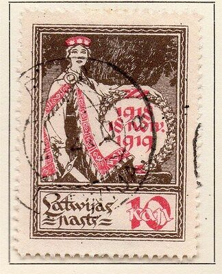Latvia 1919-20 Early Issue Fine Used 10k. 120918