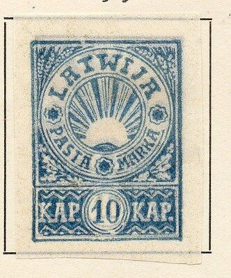 Latvia 1919 Early Issue Fine Mint Hinged 10k. 120921