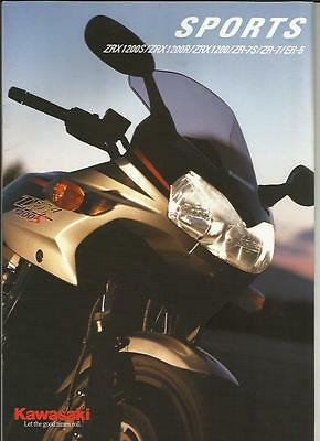 Kawasaki Sports Zrx  Zr  And Er Models Motorbike Sales Brochure 2000