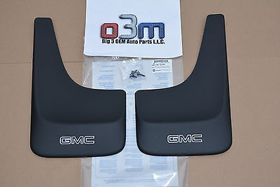GMC Truck & SUV Front or Rear Black Contoured Mud Flaps w/ Logo new OEM 19213390