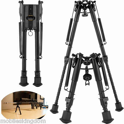 Precision Air Rifle Bipod Adjustable Gun Rest Hunting Shooting Set + Adapter UK