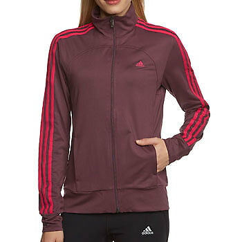 Adidas Essential Multi-Functional Ladies Track Top - Red