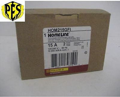 Square D Homeline Hom215Gfi 2 Pole 15 Amp Ground Fault Breaker