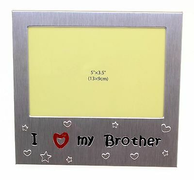 I Love My Brother Photo Picture Frame Gift 5 x 3.5