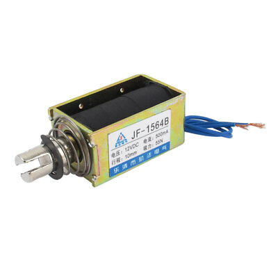 DC12V 500mA 55N Push Type Open Frame Actuator Solenoid Electromagnet JF-1564B