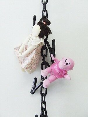 Chain Gang Toy Organizer Chain for Stuffed Animals, Black