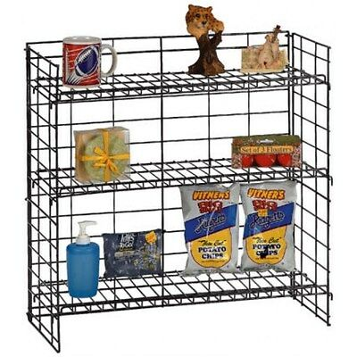 AYS 3 Tier Retail Counter Top Gum, Candy and Snack Product Display Rack (Black)