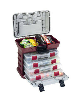 Plano 1354 Tackle Box - 4 Removable Tackle Tray System With Top Bulk Storage