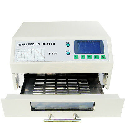 T962 800W Infrared SMD BGA IC Heater Reflow Oven Soldering Area 180×235cm