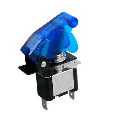 20A 12V 2 Position SPST ON-OFF 3 Pin Toggle Switch w Blue Cover