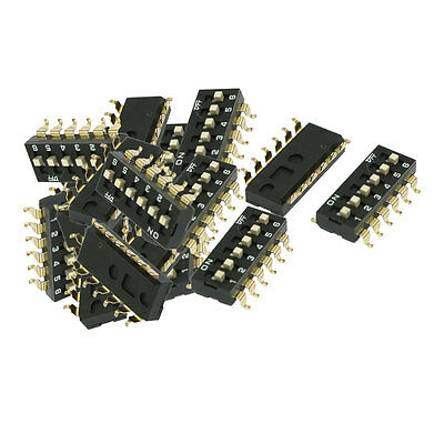 28 Pcs 2.54mm Pitch 6 Position Slide Style DIP Switch Black