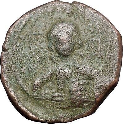 JESUS CHRIST Class A2 Anonymous Ancient 1028AD Byzantine Follis Coin i47461