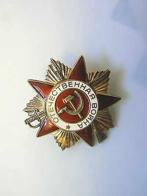 RUSSIA, SOVIET WWII ORDER OF THE PATRIOTIC WAR, 1st class,gold gilt sterling