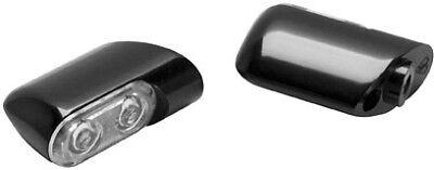 Arlen Ness Direct Bolt-On Front Turn Signals Black Anodized - Amber LED 12-761
