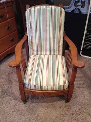 Antique Oak Foldable Chair
