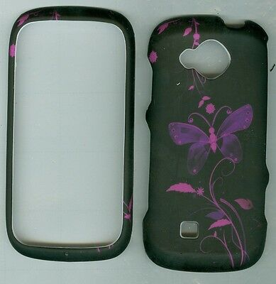 Purple Butterfly HARD RUBBERIZED PROTECTOR CASE FOR Samsung Reality SCH- U820