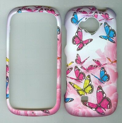 Rose Butterfly RUBBERIZED PROTECTOR CASE FOR Samsung Reality SCH- U820 VERIZON