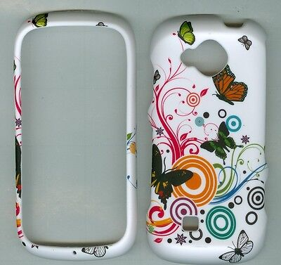 Flower Butterfly RUBBERIZED PROTECTOR CASE FOR Samsung Reality SCH- U820 VERIZON