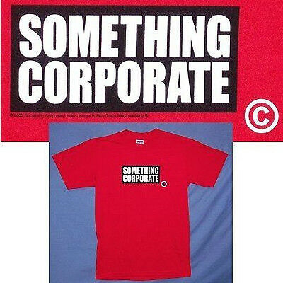 SOMETHING CORPORATE! COPYRIGHT 2003 RED T-SHIRT M RARE