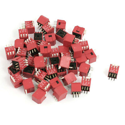 50 Pcs 2.54mm Pitch Dual Rows 3 Positions Slide Type DIP Switches