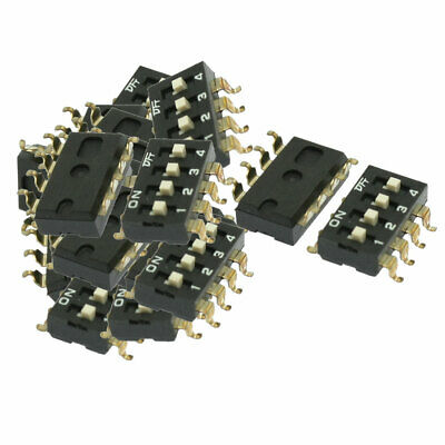 40 Pcs 2.54mm Pitch 4 Positions Slide Type DIP Switch