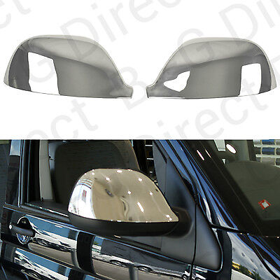 Stainless Steel Chrome Door Wing Mirror Cap Covers RHD VW Amarok Transporter Van