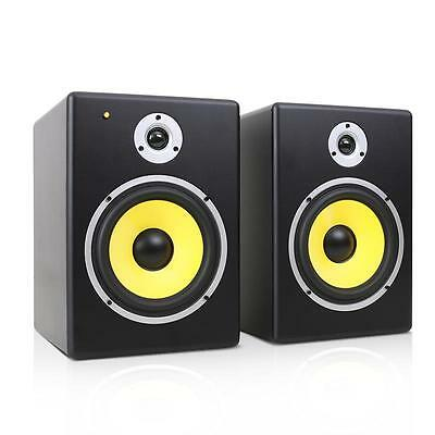 """240W 8"""" Dj Active Monitors Pair Studio Reference Speakers 2-Way Sound System New"""