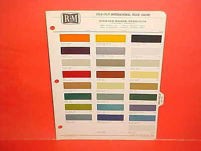 1964 1965 1966 1967 1968 1969 INTERNATIONAL IH PICKUP TRUCK SCOUT PAINT CHIPS