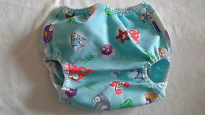 Motherease Airflow wrap popper fasten small medium large Xlrg Ocean! Nappy wrap