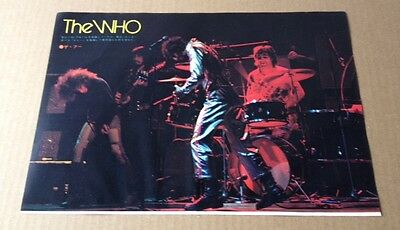 1973 The Who on stage JAPAN mag photo pinup / mini poster vintage clipping w03m
