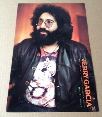 1973 Jerry Garcia JAPAN mag photo pinup / mini poster / grateful dead g03