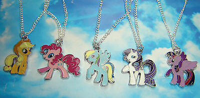 My Little Pony Pendant Character Necklace Silver Plated Chain In Gift Bag